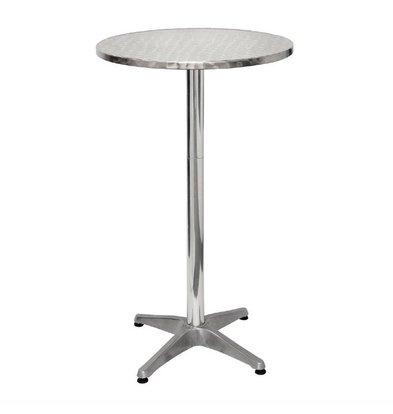 Bolero Runder Stehtisch | 105 x 60(Ø)cm | Edelstahl/Aluminium