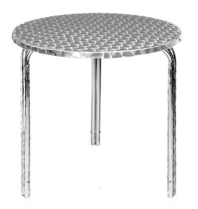 Bolero Runder Bistrotisch | 72 x 60(Ø)cm | Edelstahl/Aluminium