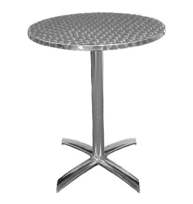 Bolero Runder klappbarer Tisch   72 x 60(Ø)cm   Aluminium/Edelstahl