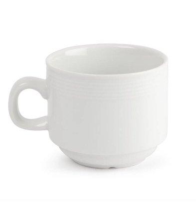 Olympia Stapelbare Teetassen | 12 Stück | 20cl | Porzellan