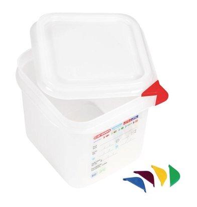 Araven GN1/6 Lebensmittelbehälter | 2,6L | 4er Pack