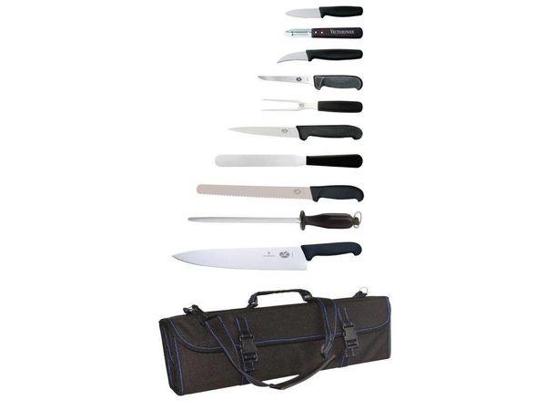 Victorinox 11-Teiliges Messerset mit Tasche
