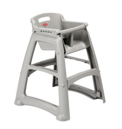 Rubbermaid Kinderhochstuhl | Sitzhöhe: 53cm | Kunststoff | Grau