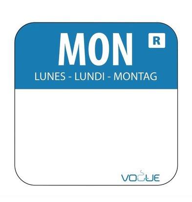 Vogue Sticker Montag | Blau