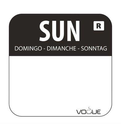 Vogue Sticker Sonntag  | Schwarz