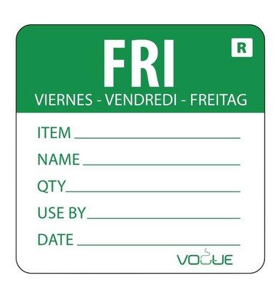 Vogue Farbcodesticker Freitag