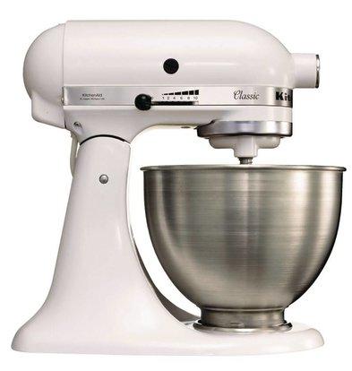 Kitchenaid Küchenmaschine | 275W/230V | 4,3 Liter | Edelstahlschüssel | Weiß