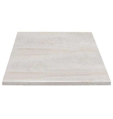 Bolero Rechteckige Tischplatte | Whitewash | Erhältlich in 2 Größen