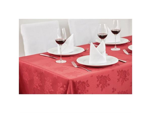Mitre Luxury Luxury Traditions Tischdecke   100% Polyester   Bordeauxrot   Erhältlich in 4 Größen