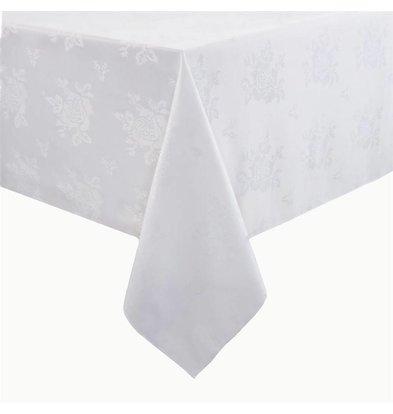 Mitre Luxury Luxury Traditions Tischdecke | 100% Polyester | Weiß | Erhältlich in 4 Größen