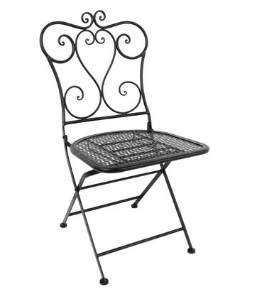 Bolero Terrassenstühle | 2 Stück | Sitzhöhe: 45cm | Stahl | Schwarz
