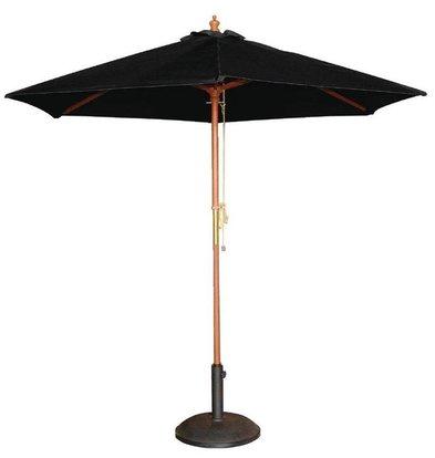 Bolero Sonnenschirm Rund mit Flaschenzugsystem | Schwarz | Ø 3 Meter