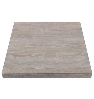 Bolero Viereckige Tischplatte | Vintage Holz | Vorgebohrt | Erhältlich in 2 Größen