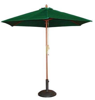 Bolero Sonnenschirm Rund mit Flaschenzugsystem | Grün | Ø 3 Meter
