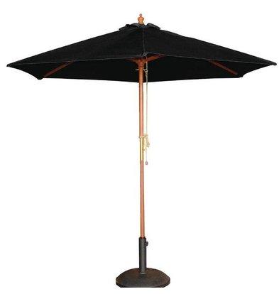 Bolero Sonnenschirm Rund mit Flaschenzugsystem | Schwarz | Ø 2,5 Meter