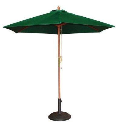 Bolero Sonnenschirm Rund mit Flaschenzugsystem | Grün | Ø 2,5 Meter