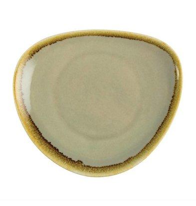 Olympia Dreieckige Teller | 6 Stück | Porzellan/Moos | Erhältlich in 3 Größen
