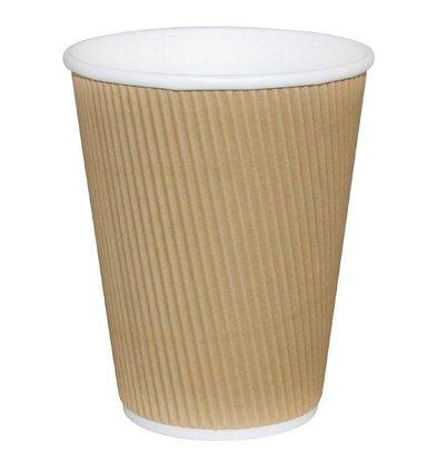 Fiesta Coffee To Go Becher mit Wellpappe | 34cl | Hellbraun | Erhältlich in 2 Größen