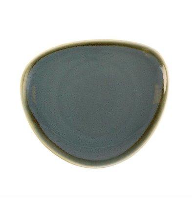 Olympia Dreieckige Teller | 6 Stück | Porzellan/Ozean | Erhältlich in 3 Größen