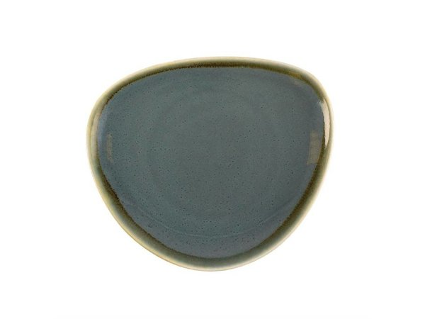 Olympia Dreieckige Teller | 4-6 Stück | Porzellan/Ozean | Erhältlich in 3 Größen