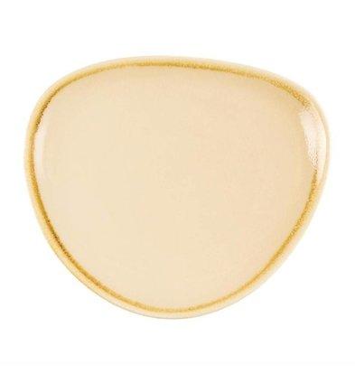 Olympia Dreieckige Teller | 6 Stück | Porzellan/Sandstein | Erhältlich in 3 Größen