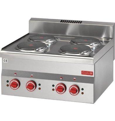Gastro M Elektroherd | 6kW/400V | 4 Kochplatten | 600-Serie