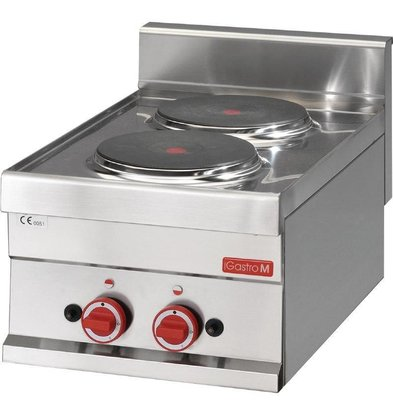 Gastro M Elektroherd | 3kW/400V | 2 Kochplatten | 600-Serie