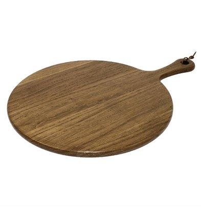 Olympia Rundes Servierbrett mit Griff | Akazienholz | Erhältlich in 2 Größen