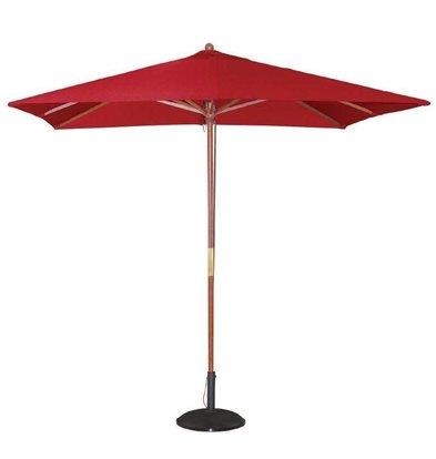Bolero Viereckiger Sonnenschirm | 2,73 x 2,5 x 2,5m | Rot | Flaschenzugsystem