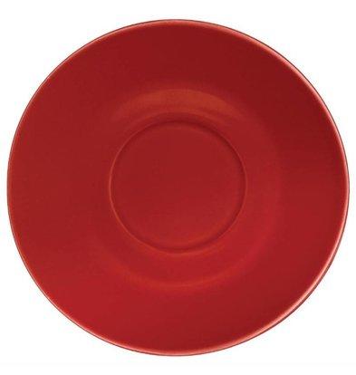 Olympia Cafe Untertassen   12 Stück   15,8(Ø)cm   Steinzeug   in 3 Farben Erhältlich