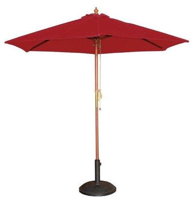 Bolero Runder Sonnenschirm | Rot | Flaschenzugsystem | Erhältlich in 2 Größen