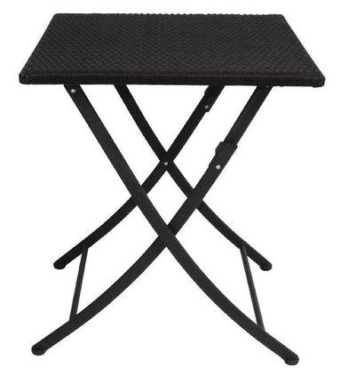 Bolero Viereckiger klappbarer Rattentisch | 71 x 60 x 60cm | Schwarz