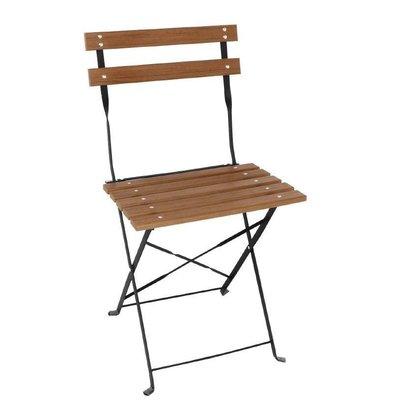 Bolero Klappbare Terrassenstühle | 2 Stück | Sitzhöhe: 48cm | Holzimitat