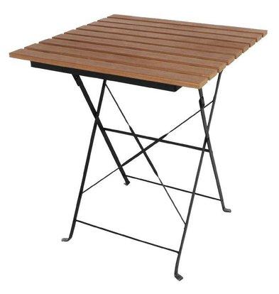 Bolero Viereckiger klappbarer Terrassentisch | 60cm | Stahl und Holzimitat