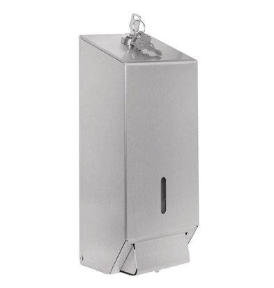 Jantex Seifenspender | 1 Liter | satinierter Edelstahl