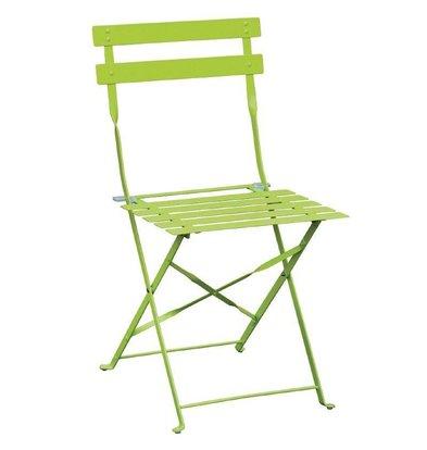 Bolero Klappbare Terrassenstühle | 2 Stück | Sitzhöhe: 44cm | Stahl | Erhältlich in 3 Farben
