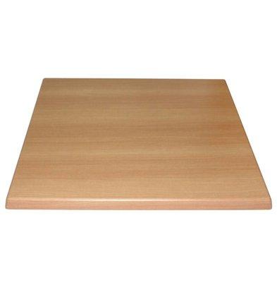 Bolero Viereckige Tischplatte | 70 x 70cm | Vorgebohrt | Erhältlich in 3 Farben