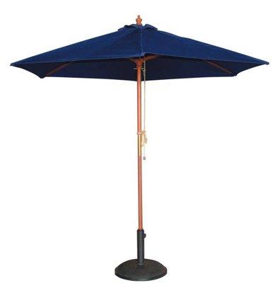 Bolero Sonnenschirm | DunkelBlau | Flaschenzugsystem | Erhältlich in 2 Größen