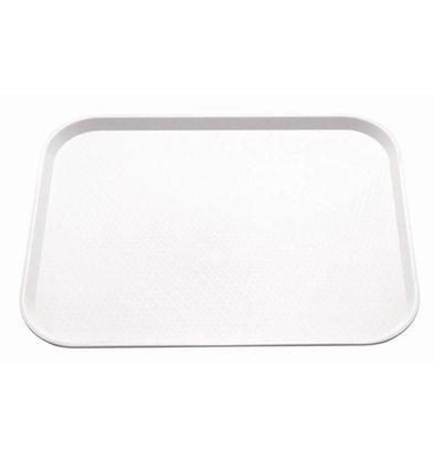 Kristallon Fast-Food-Tablett | Polypropylen | Weiß | Erhältlich in 3 Größen