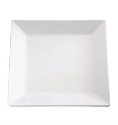 XXLselect Viereckiges Schale | Melamin | Weiß