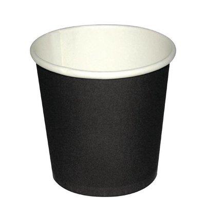 Fiesta Espresso To Go Becher | Schwarz | 110ml | Erhältlich in 2 Größen