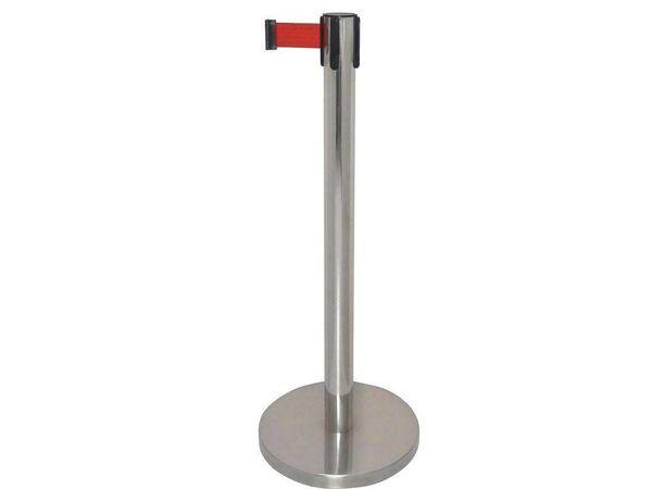 Bolero Absperrband mit Leitpfosten | Edelstahl | 2 Meter | Erhältlich in 2 Farben