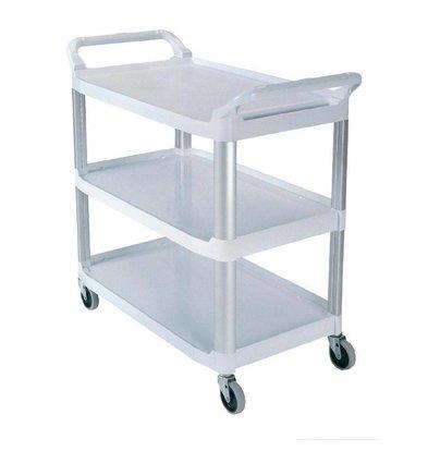 Rubbermaid Servicewagen | Weiß | bis 135kg | Kunststoff