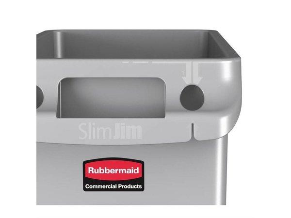 Rubbermaid Abfalleimer 60 Liter | Grau
