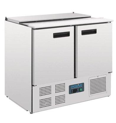 Polar Saladette   240 Liter   2 Türen   900x700x(h)850mm