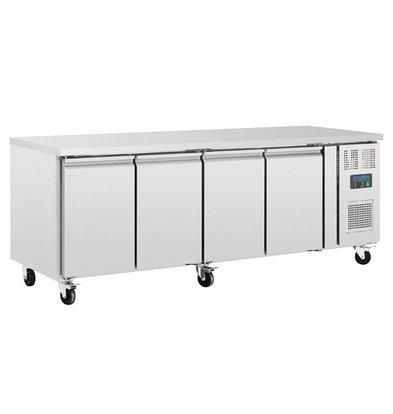 Polar Kühltisch | 553 Liter | 4 Türen | 2230x700(h)860mm