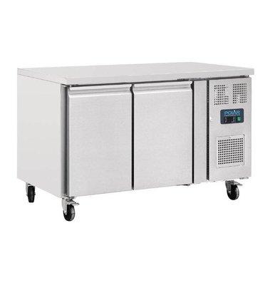 Polar Kühltisch   282 Liter   2 Türen   1360x700(h)860mm