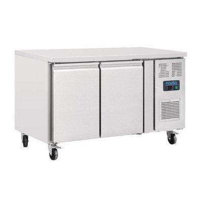 Polar Kühltisch   228 Liter   2 Türen   1360x600x(h)860mm