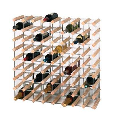 XXLselect Weinregal   72 Flaschen   Kiefernholz und Stahl