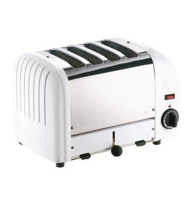Dualit Toaster Weiß | 2,2kW/230V | 4 Schlitze | 130 Scheiben pro Stunde